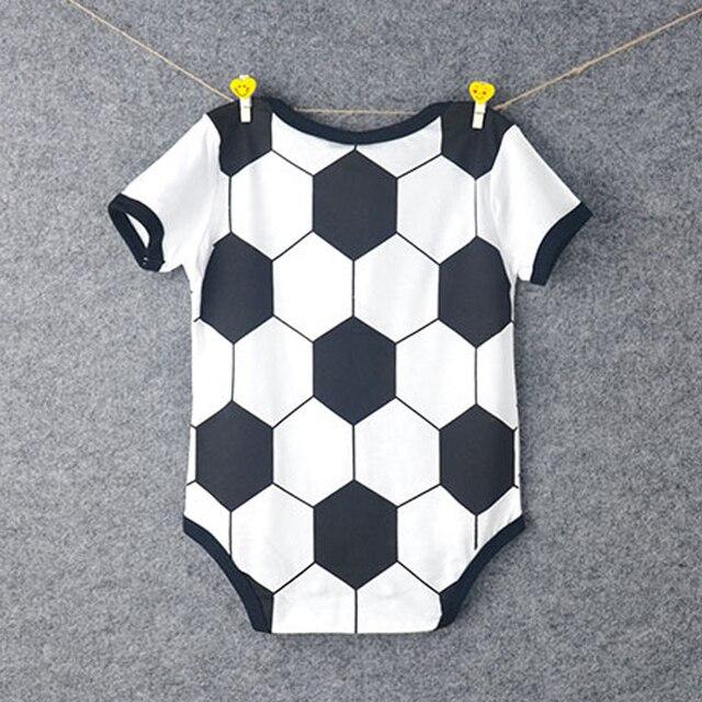 Nuevo diseño de balón de fútbol bebé jerseys niño algodón fútbol Francia camisetas Bodysuits niños clásicos Eusebio niños conjuntos 1/2 años