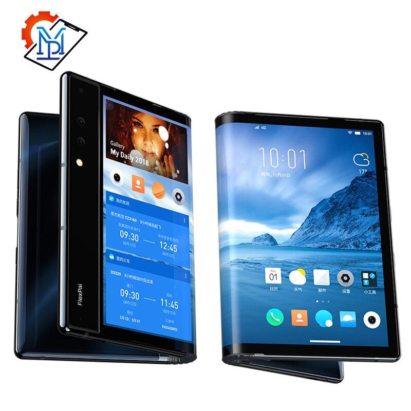 "Téléphone portable Royole FlexPai 7.8 ""écran AMOLED Flexible 6/8G RAM 128/256G ROM Snapdragon 855 octa-core 3970mAh Smartphone"