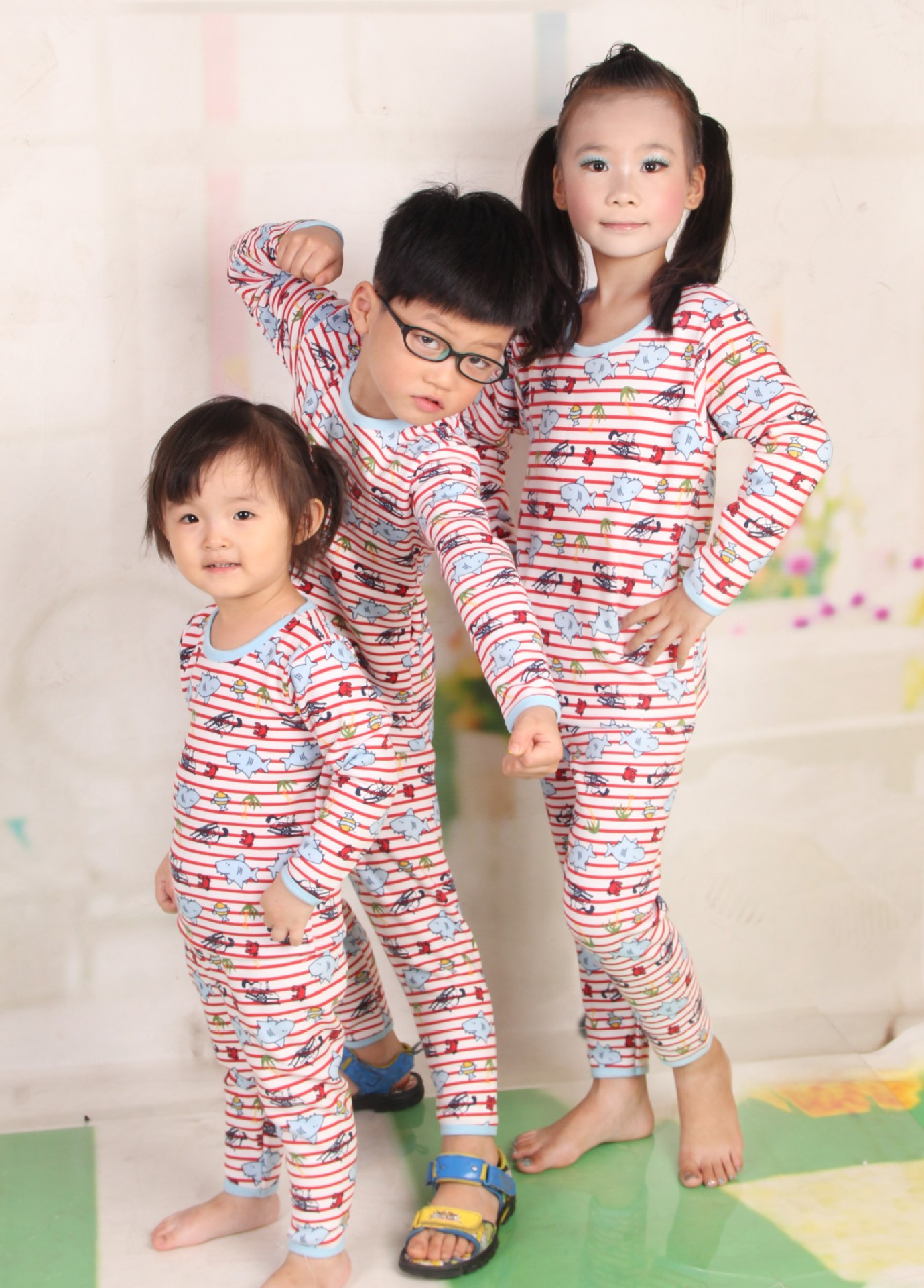 Kids Clothes ropa mujer Girl Set Boy Infant Thermal Underwear Sets