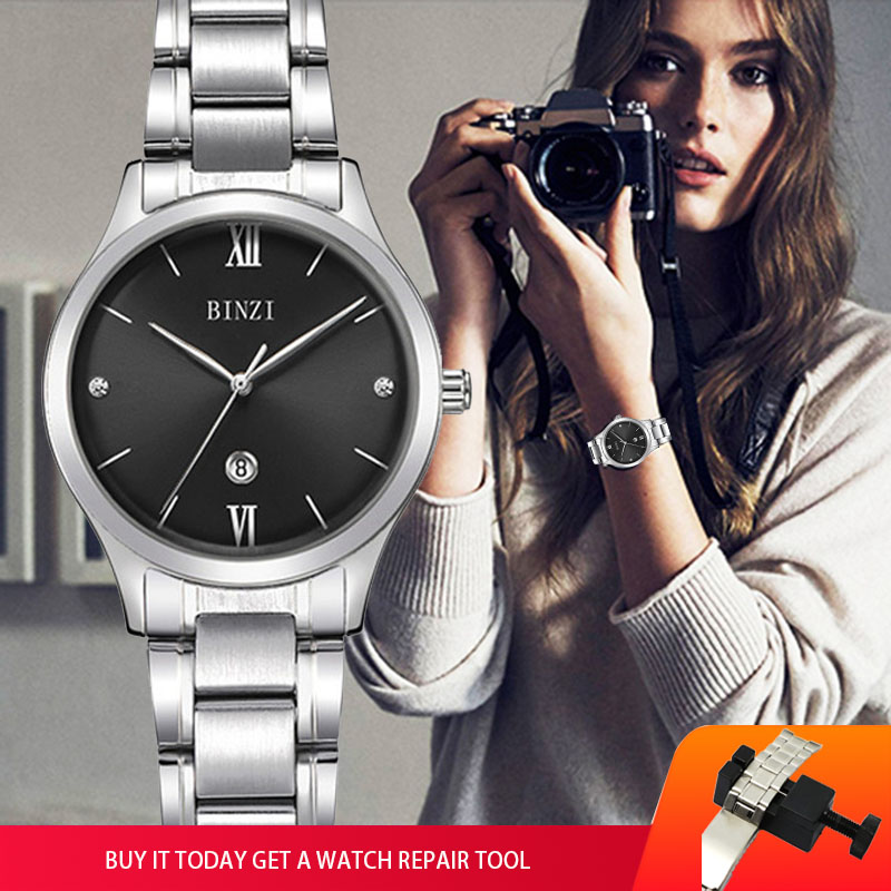 Relogio Feminino Frauen Armband Uhr 2018 Top Marke Luxus Milimalist Damen Armbanduhr Silber Für zegarek damski Weibliche Uhr