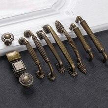 Европейские бронзовые ручки для шкафа, фурнитура для домашнего декора, антикварная мебель, ручки для шкафа, ящика, двери шкафа, мульти-тип