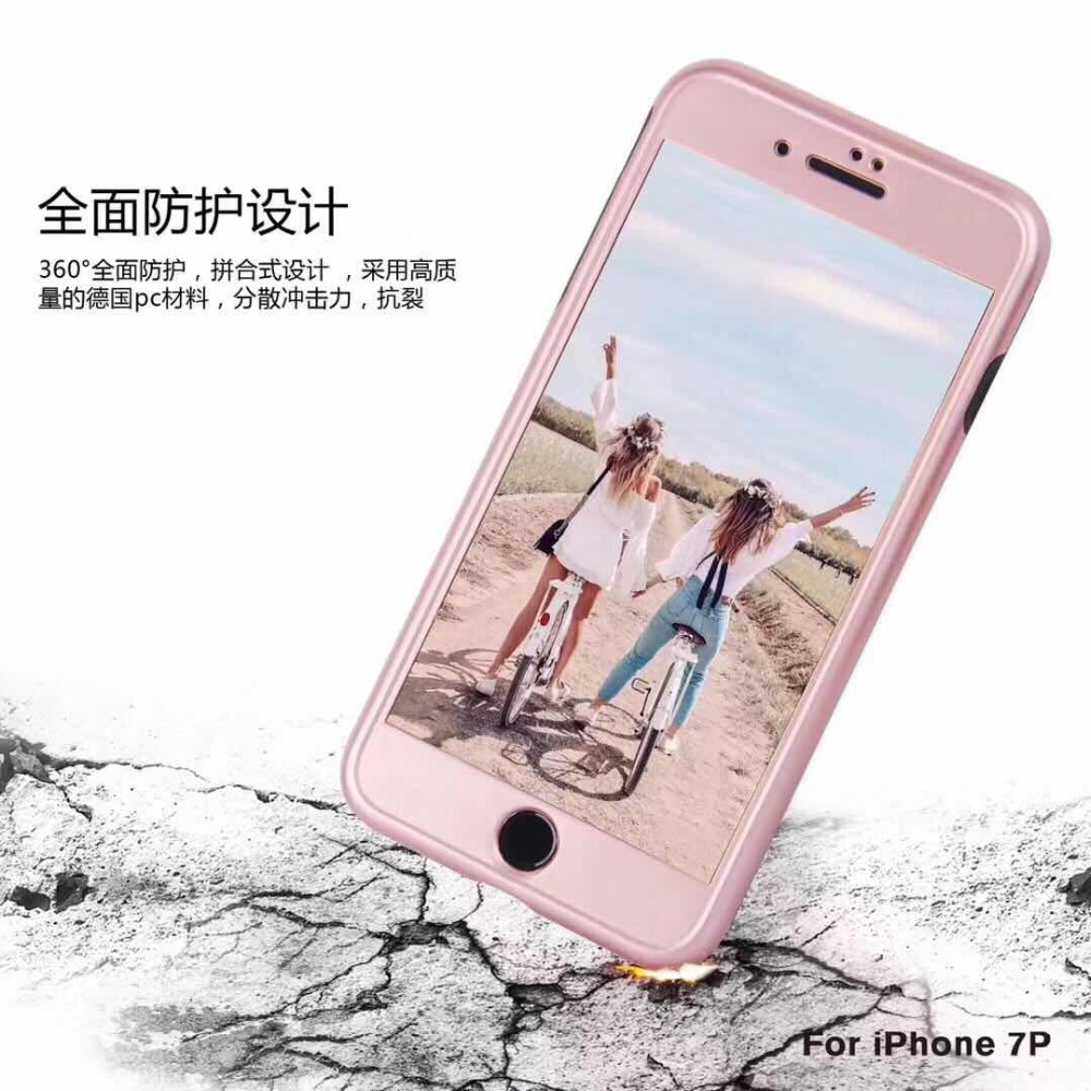 10pcs 360 full cover Wire drawing case For iPhone X Case+Tempepred ...