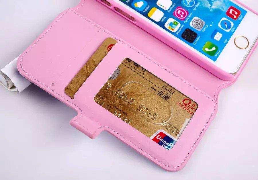 hot sale online 1085f 239b6 US $102.8 |20pcs/lot Victoria/'s Secret PINK Stripe PU Leather Flip Stand  Wallet Case cover for iPhone 6 4.7