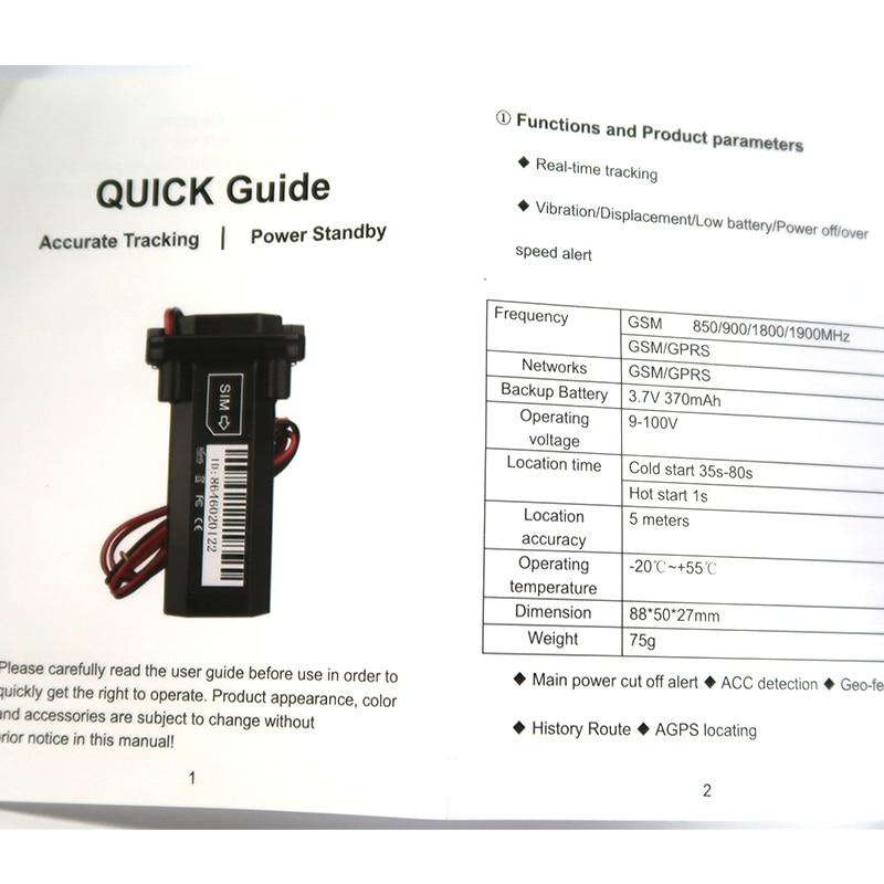 GT02 GPS Tracker Vehicle Tracking Device Waterproof