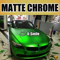 Apple Green Matte Chrome Car Film Matt Chrome Green Car Wrap Matt Chrome Green Car Vinyl Air Free Vehicle Wraps