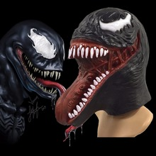 The Venom Spiderman Mask Cosplay Black SpiderMan Edward Brock Dark Superhero Latex Masks Helmet Halloween Party Props 2018