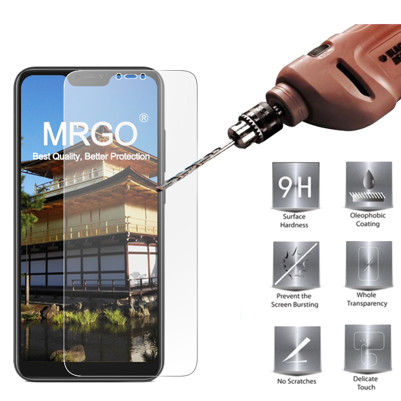 MRGO Tempered Glass For Xiaomi Mi A2 Lite Screen Protector 9H 2.5D Phone On Film Protective Glass For Xiaomi Mi A2 Lite Glass(China)