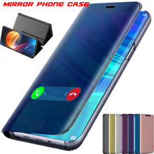 Smart Mirror Flip Case For Huawei Honor 10i 20i 9 8C V20 9I 10 Lite P30 Pro Enjoy 9s 8 9 Plus Y5 Y6 P Smart 2019 Nova 3e 4e Case(China)