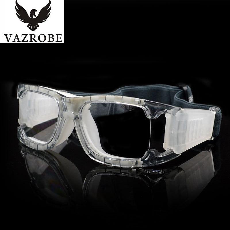 vazrobe brand wide vision basketball glasses frame men women eye protect eyeglasses frames eyewear framing goggles for male in eyewear frames from mens - Wide Eyeglass Frames