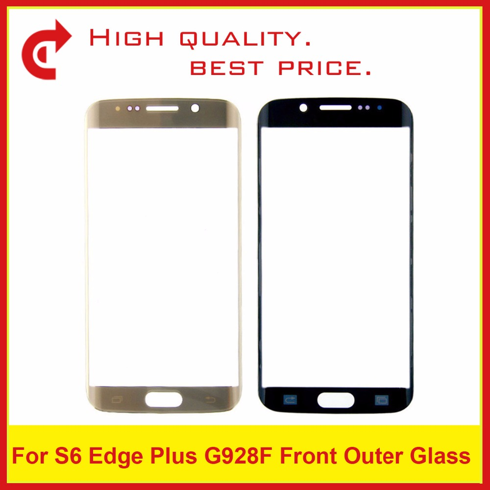 For Samsung Galaxy S6 G920 G920F SM-G920 S6 Edge SM-G925F G925 G9250 Plus G928 G928F Touch Screen Panel Front Outer Glass Lens