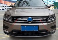 Front Hood Billet Grille Horizontal Sticker Style FOR 2016 2018 VW TIGUAN Mk2 Europe Version