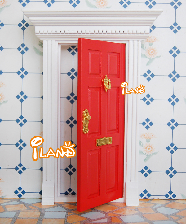 112 Dollhouse Fairy Doors Red Color Exterior Door W/ Metal Accessories-in Dolls Accessories from Toys \u0026 Hobbies on Aliexpress.com | Alibaba Group & 1:12 Dollhouse Fairy Doors Red Color Exterior Door W/ Metal ...