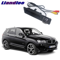 LiandLee Car Trunk Handle Rear View Reversing Parking Camera For BMW X3 F25 2010~2017