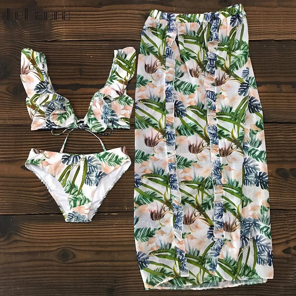 HTB14oMLcL1H3KVjSZFBq6zSMXXa0 Sexy High Waist Bikini Swimwear Women Swimsuit Push Up Bikinis 2019 Women Biquini Ruffle Swimsuit Bathing Suit Female Beach Wear