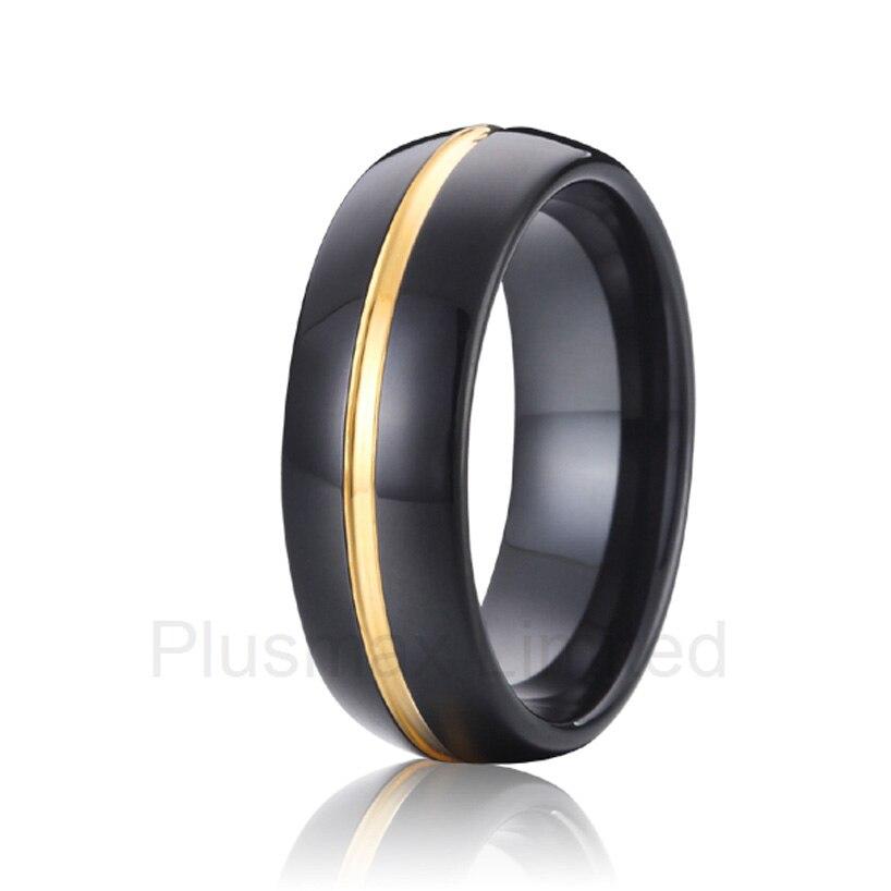 black gold color titanium wedding band fashion jewelry tungsten
