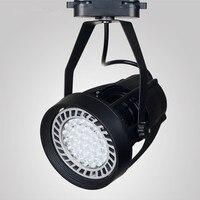 Led track lights par30 track spotlights led spotlights lights clothing store background mounted rail lights 35W