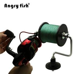Image 5 - Angryfish przenośna aluminiowa żyłka linia Winder szpuli szpula System narzędzie walki przyssawka Sea Carp narzędzia wędkarskie