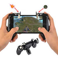 PUBG Mobile Controller Phone Gamepad Aim Key Shooter Trigger Fire Button Gaming Joystick Game Pad Handle Stand holder STG FPS