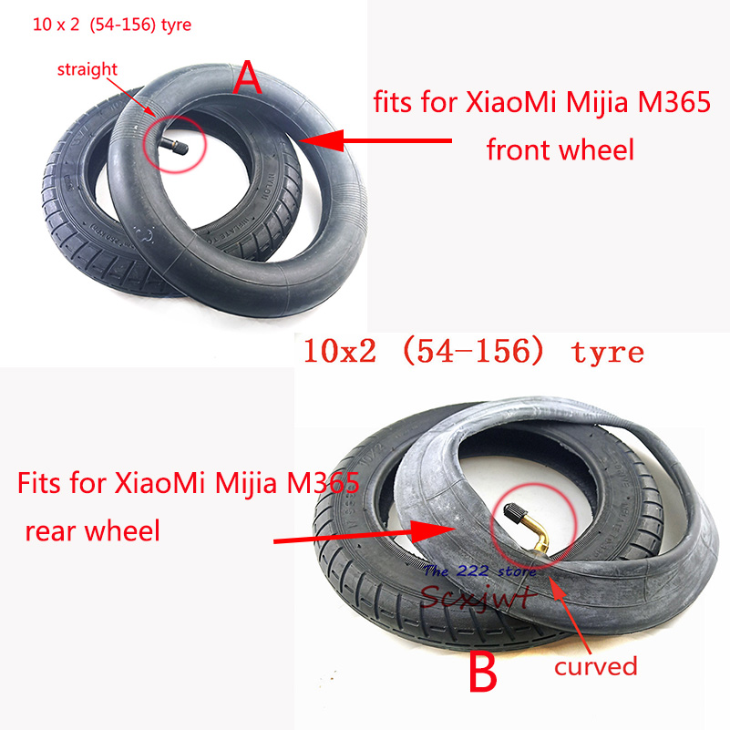 Image 2 - Upgraded 10 Inches Electric Scooter Xiaomi Mijia M365 front Motor wheel tyres & Inflation rear tyres Wheel 10x2 Outer Inner Tube-in Tyres from Automobiles & Motorcycles