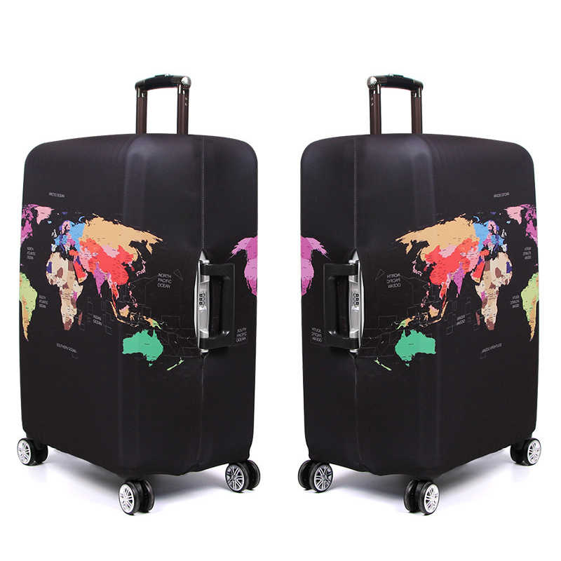 SEREQI Colorful Travel Suitcase Protective Covers Luggage Cover Apply to 18-32 inch Suitcase Travel Accessories Suitcase Cover