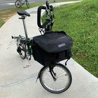 AGEKUSL S Bags Waterproof Bicycle Panniers For Brompton Folding Bike Vegetable Luggage Basket With Rainproof Cover Carrier Block