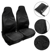 Front Car Seat Protector Waterproof Covers With Organizer Bag Universal Interior Accessory