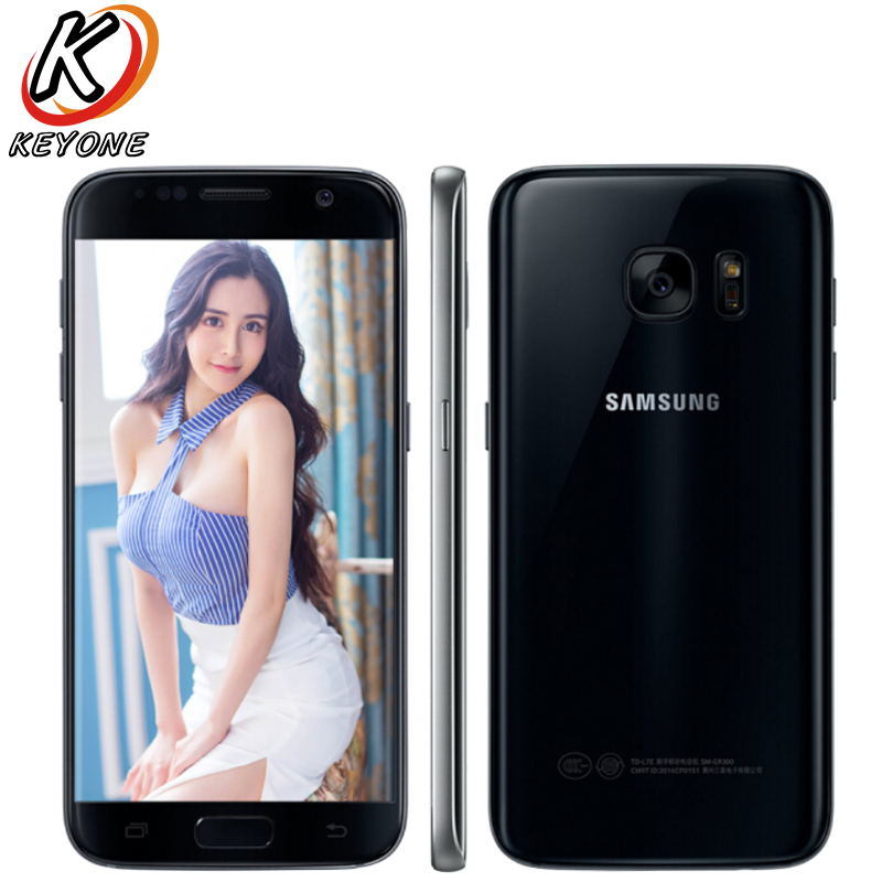 Оригинальный samsung Galaxy S7 G9300 4G LTE мобильный телефон 5,1 Snapdragon 820 4G B Оперативная память 32 ГБ Встроенная память 4 ядра NFC 12MP Камера смартфон