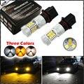 2 unids color conmutable xenon blanco/ámbar amarillo samsung de alta potencia p13w psx26w led bombillas lámparas de neblina o conducir reemplazo de la luz