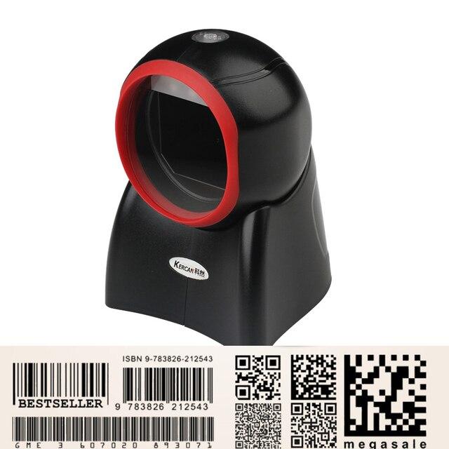 Kercan automatyczny orbita dookólna 2D/QR PDF417 Data Matrix obrazu CCD skaner kodów kreskowych czytnik z USB do supermarketu