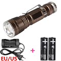 Hot 1600 Lumen CREE XM-L Q5 LED Flashlight Torch  Light +18650 &Charger  US / EU