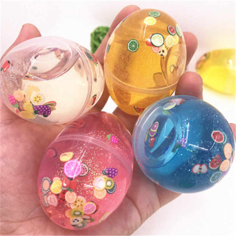 Glue for Slime Ball Crystal Fluffy Toys DIY Slimes Cloud Soft Clay Light Plasticine Antistress Toy Kids Slime Fruits Egg