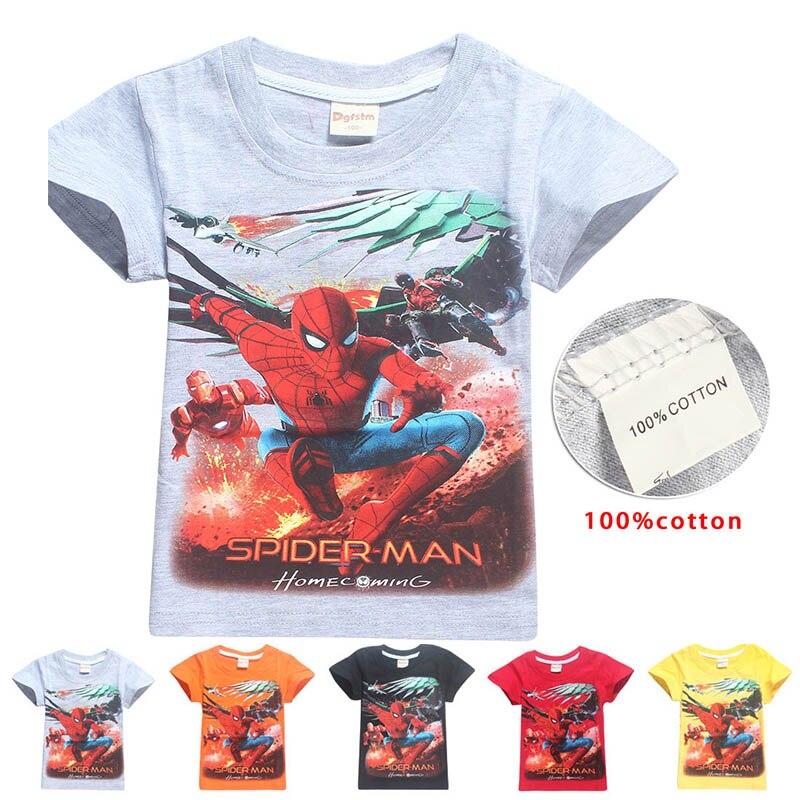 2018 Short Sleeve t shirt Children Batman Superman Movies Printing Boys Clothes T-Shirts For Boys Kids Baby Children's Clothing