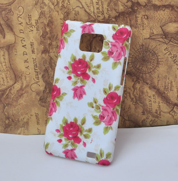 free shipping rose flower  cell phone Case for samsung Galaxy s2 AT&T i777 i9100  protective cover [JCZL DIY Shop]