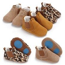 7ced1ca9 2018 de invierno pequeño PU cuero tobillo botas con felpa Fashon leopardo  Zapatos Infantiles del niño