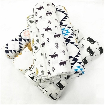 Mirale Baby Summer 100%Muslin cotton Single layer baby towel newborn blanket baby swaddle infant wrap 120x120cm 180g