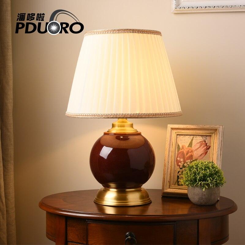 American bedroom table light foyer European crystal table ...