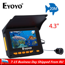 Eyoyo 20 м HD 1000TVL подводный лед Рыбалка камера видео рыболокаторы 4,3 «ЖК дисплей шт. 8 шт. ИК светодио дный 150 градусов угол