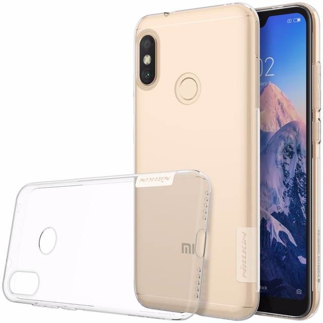 best authentic 69cf7 83e52 US $4.99 |Case For xiaomi redmi 6 pro / Mi A2 Lite NILLKIN Nature TPU  Transparent Soft Back Cover Case For xiaomi MiA2 Lite Silicon case-in  Fitted ...