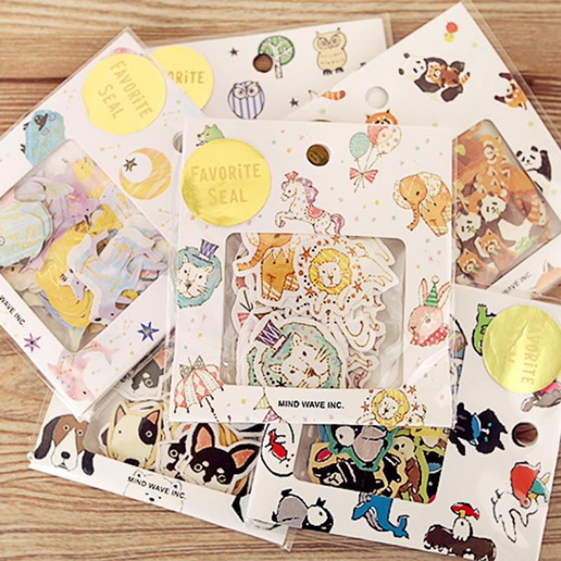 70 Pcs/lot Constellation Animals Mini Paper Sticker DIY Diary Planner Decorative Sticker Album Scrapbook Stationery 12 Design