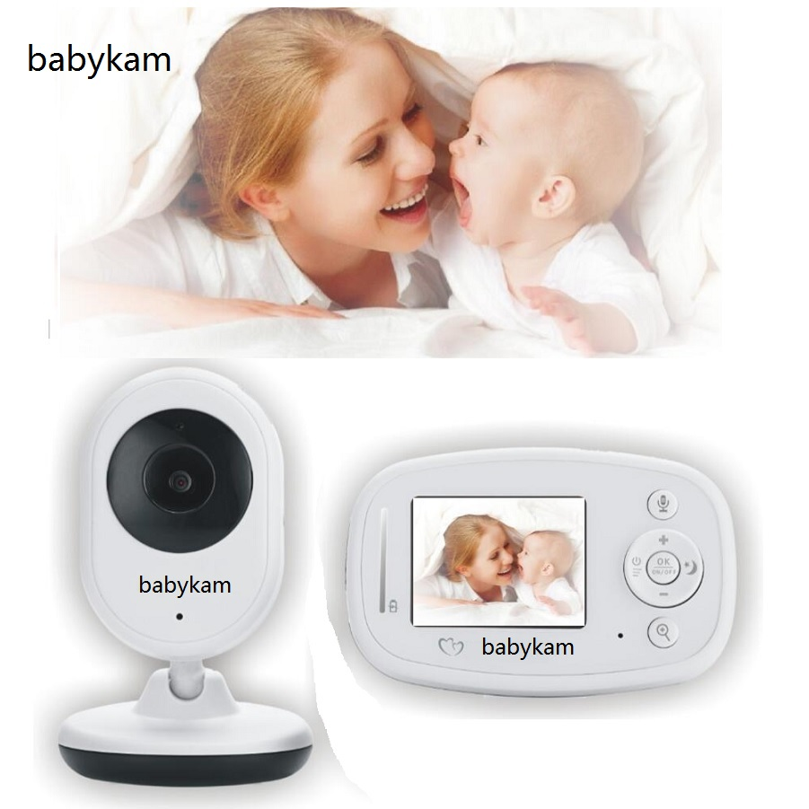 Babykam Baby Monitor baba electronics video baby monitors 2.4 inch IR Night vision 2 way talk 4 lullabies Temperature monitor