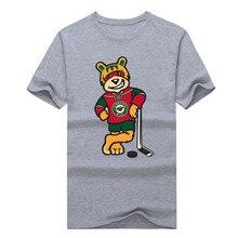 2017 2017 summer Minnesota Wild bears T-shirt Tees hockeyes Shirt O-Neck 100% Cotton Short Sleeve fans t shirt