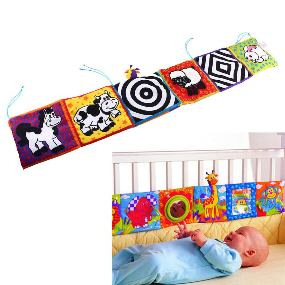 Crib Toys Learning : Baby crib bumper toy