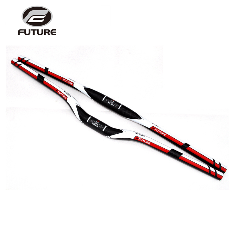 New design FUTURE <font><b>Carbon</b></font> Bicycle <font><b>Handlebar</b></font> 3K <font><b>MTB</b></font> Mountain Bike Flat <font><b>Rise</b></font> Road <font><b>Handlebars</b></font> Parts Manillar Bicicleta 31.8 mm image