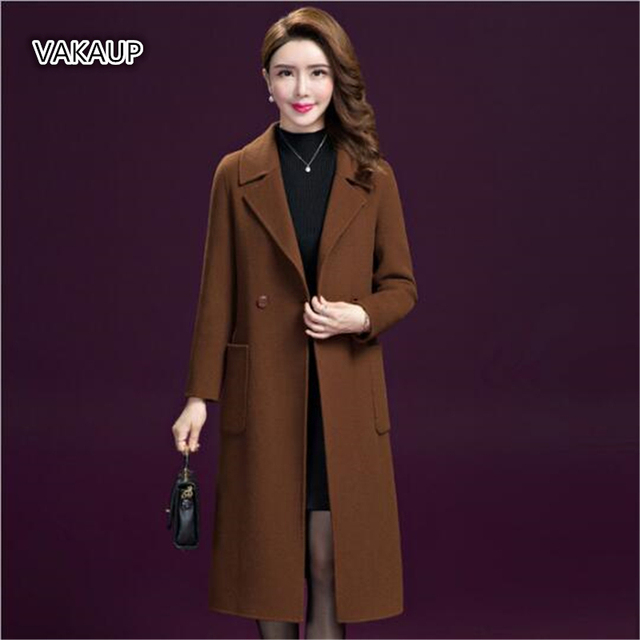 92fcec7de Autumn Winter Coat 2018 New Euro American Large Sized Women Fitted ...