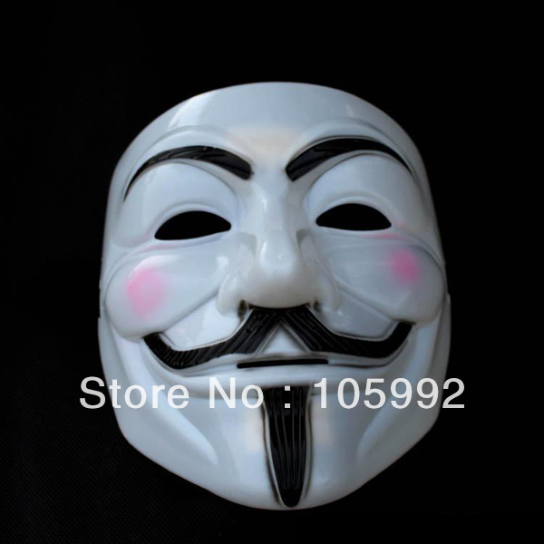 party mask v mask good quality v vendetta halloween carnival mask 100 real tooken picture - Good Halloween Font