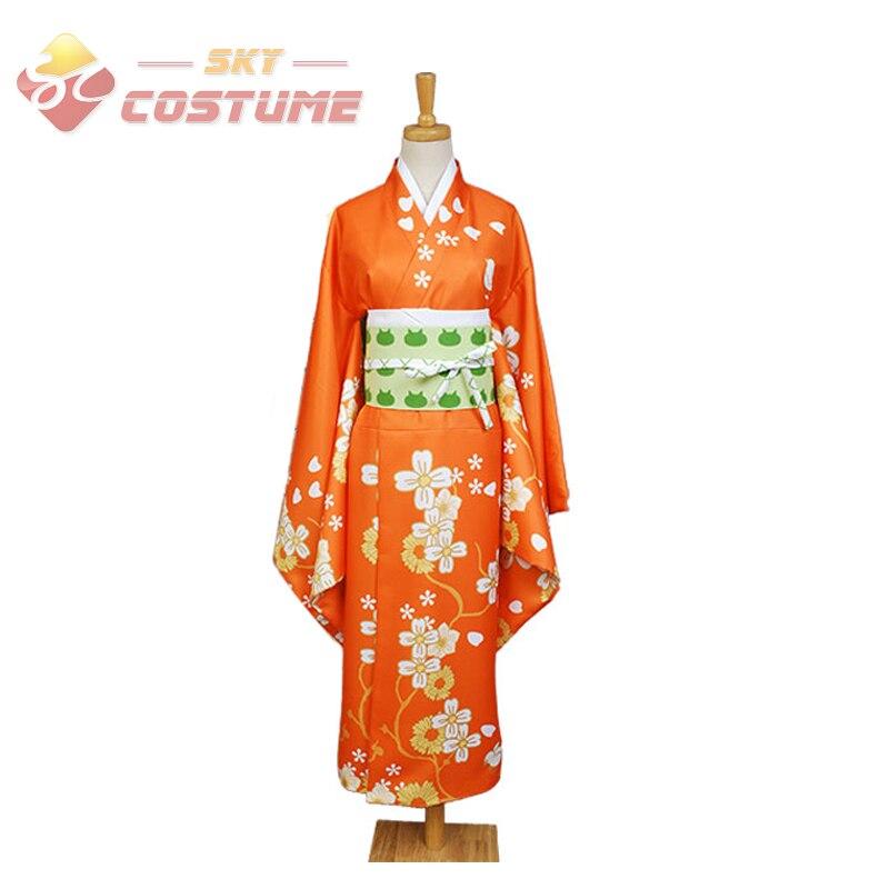 Super Danganronpa 2 Dangan Ronpa Hiyoko Saionji Cosplay Costumes Kimono Anime Halloween pour les femmes