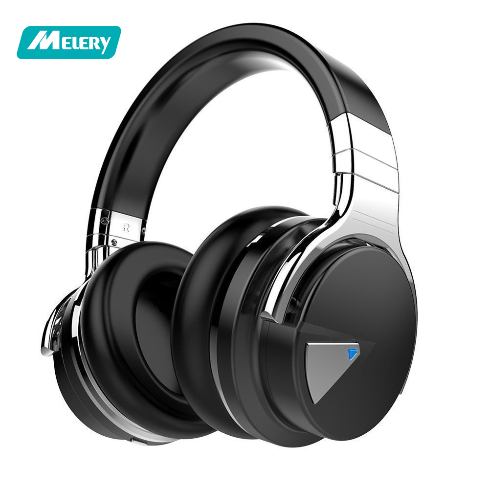 Melery Active Noise Cancelling Bluetooth Headphone,Mic Hi-Fi Deep Bass Wireless Over Ear,30H Playtime for /TV Computer IPhone стоимость