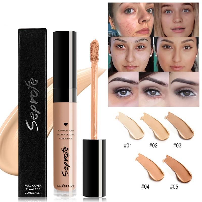 HotMatte Liquid Concealer Hiding Circles Concealer Acne Dark Waterproof Scars Marks Strong Moisturizing