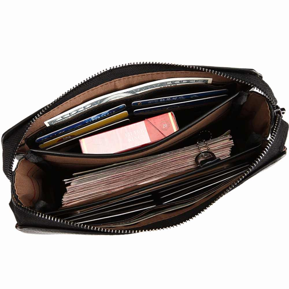 5e6490f81bc7 ... VICUNA POLO, брендовый мужской кошелек-клатч с кодовым замком из  натуральной воловьей кожи,