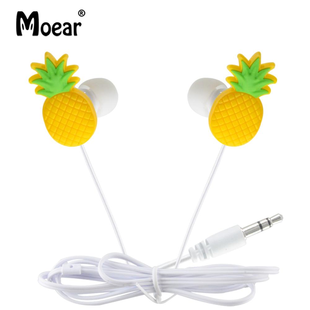 Moear In Ear Wired 3.5 mm Cute Cartoon Fruits Earphone Earbuds Headphone